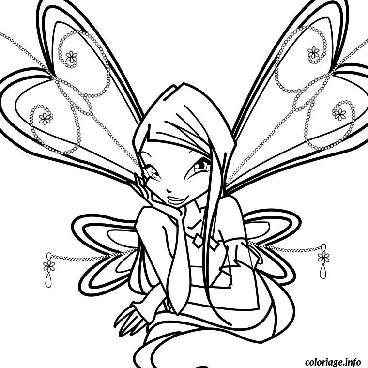 Coloriage winx animaux dessin - Winx club dessin ...