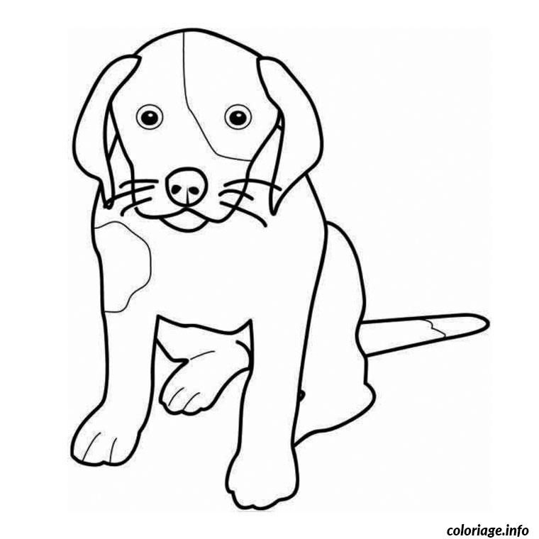 Coloriage animaux chien dessin - Animaux coloriage ...