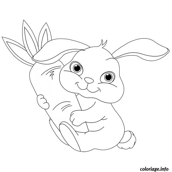 Coloriage De Bebe Lapin dessin