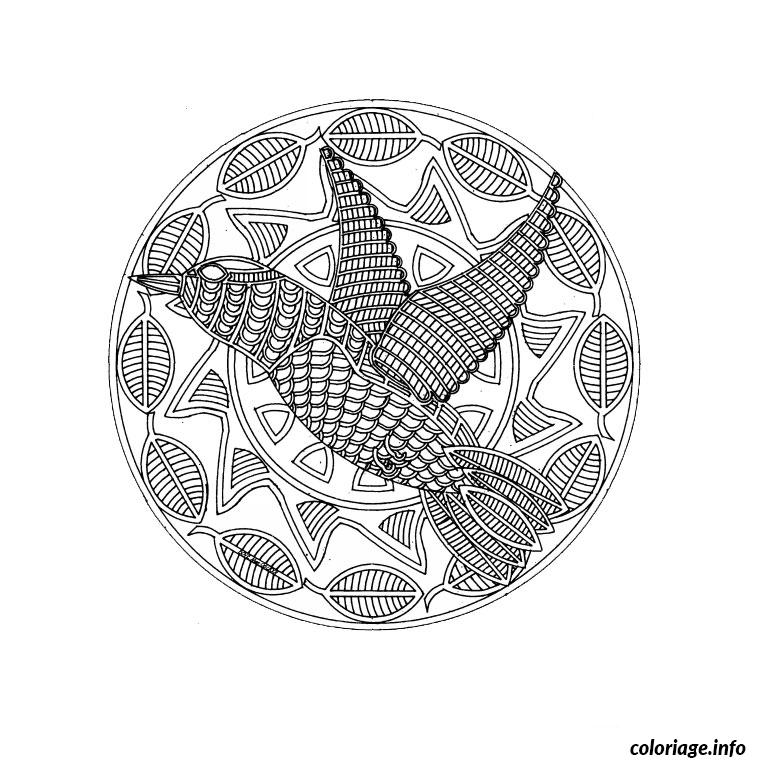mandala d animaux coloriage dessin 46