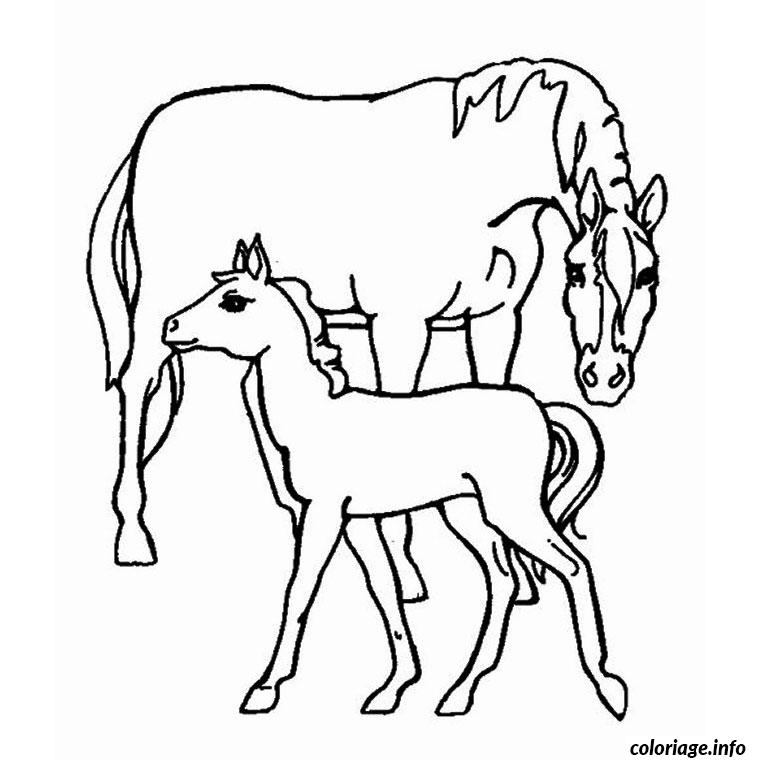 Coloriage animaux chevaux dessin - Animaux coloriage ...
