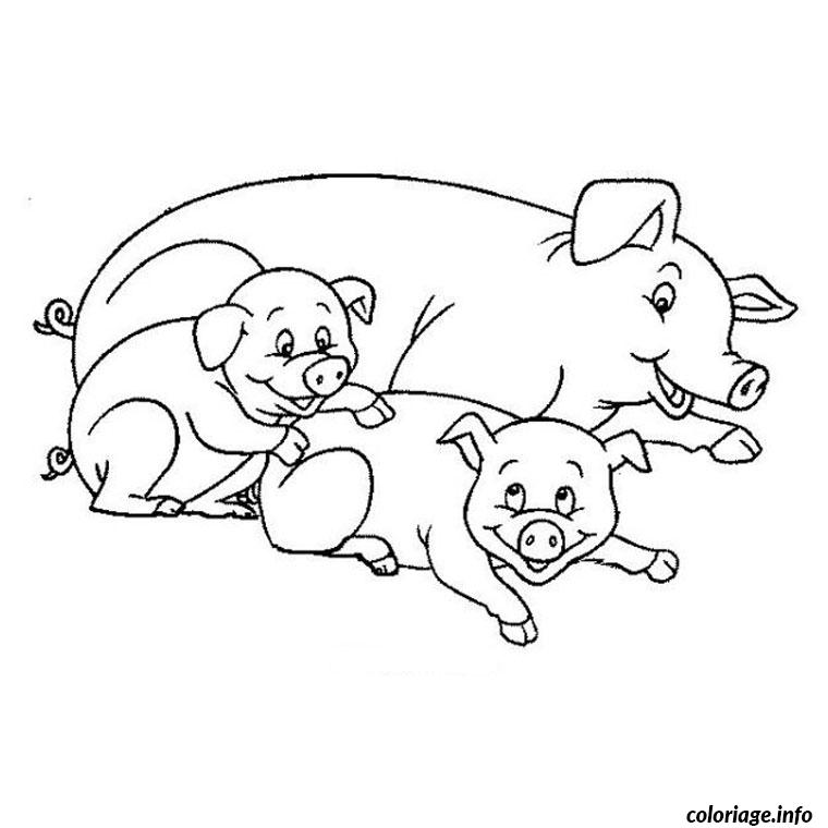 Coloriage cochon de lait - Dessin a imprimer cochon ...