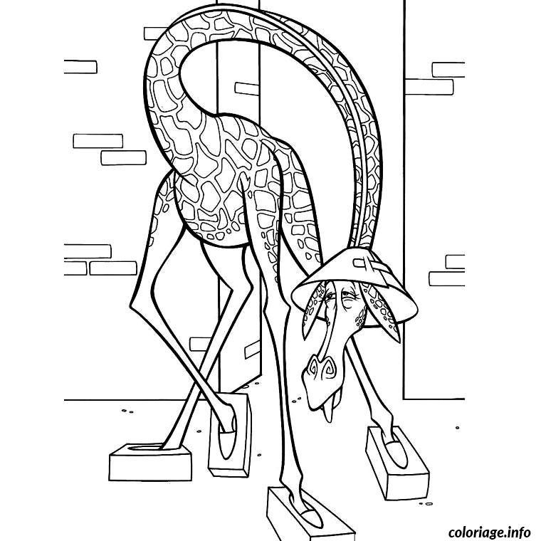 Coloriage animaux madagascar dessin - Coloriage madagascar ...
