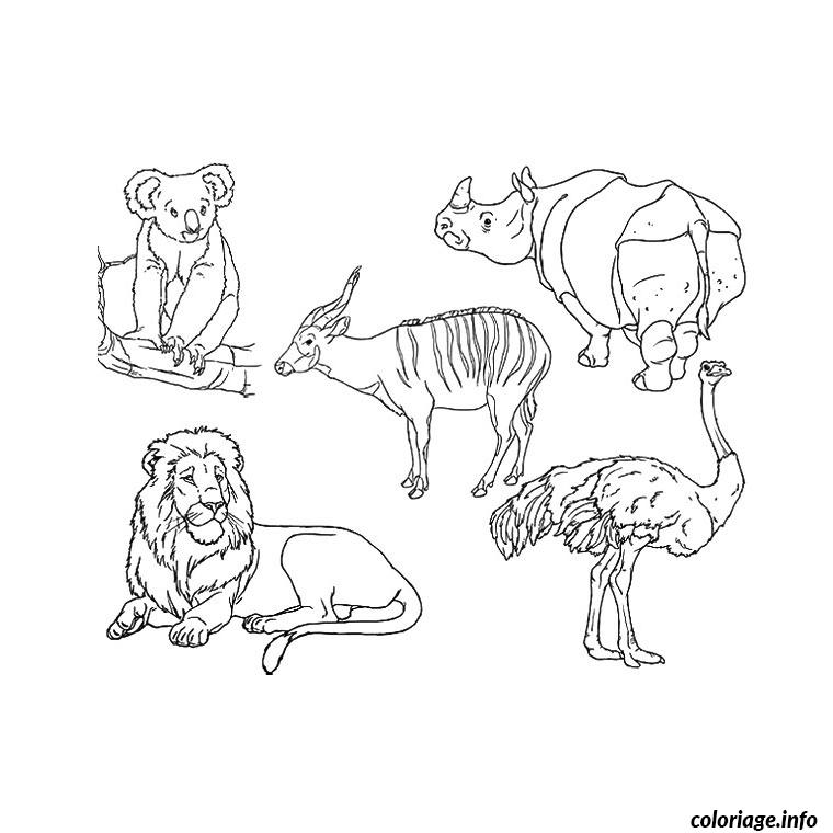 Coloriage Animaux Zoo.Coloriage Animaux Zoo Jecolorie Com