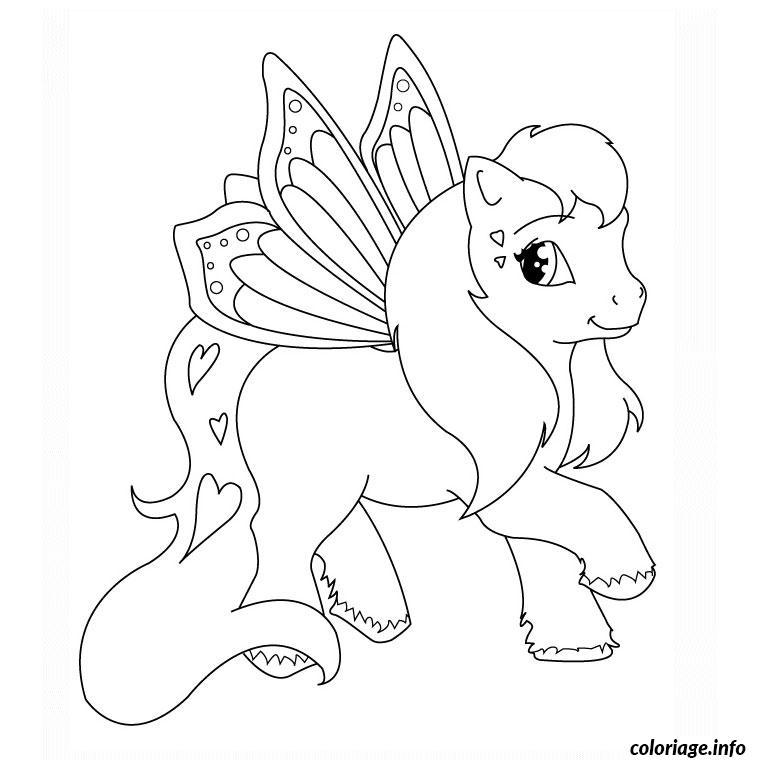 coloriage bebe poney facile dessin gratuit