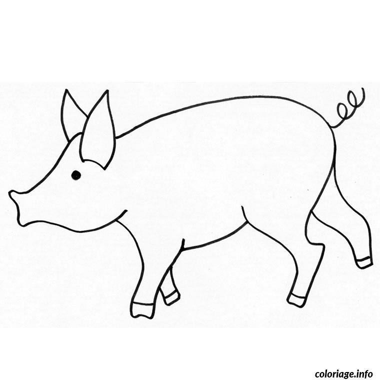 Coloriage Tete De Cochon.Coloriage Cochon Nain Dessin