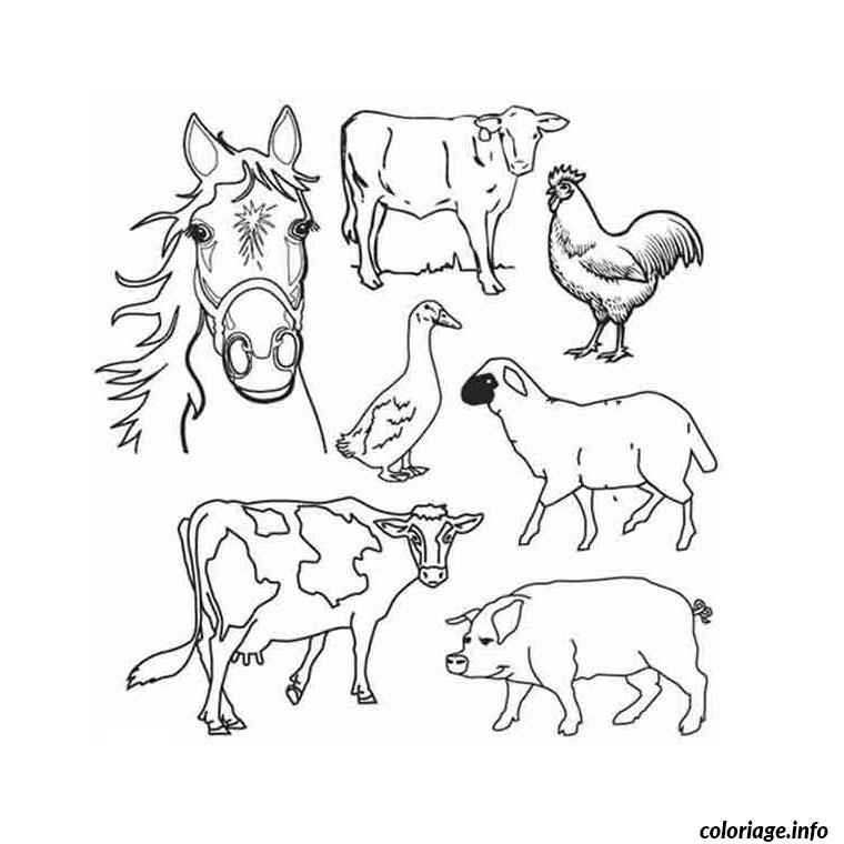 ferme et animaux coloriage dessin 117