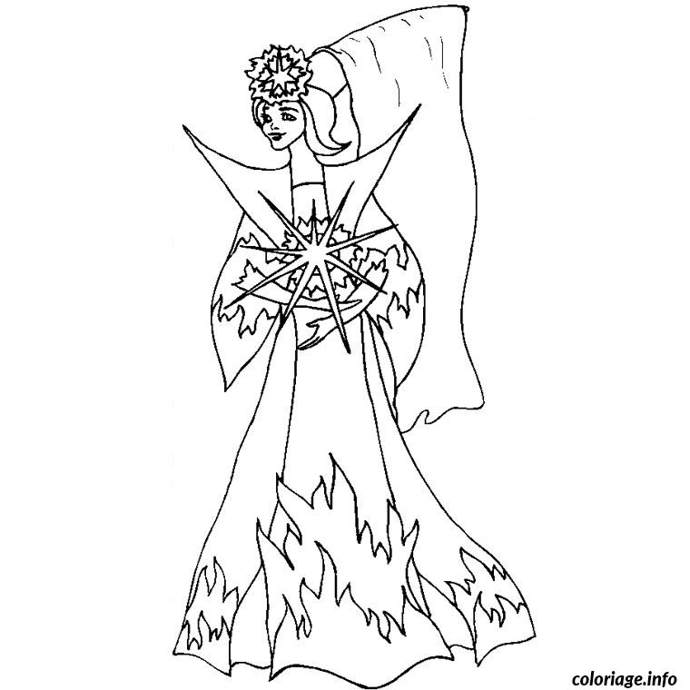 Coloriage fee princesse - Fee coloriage ...