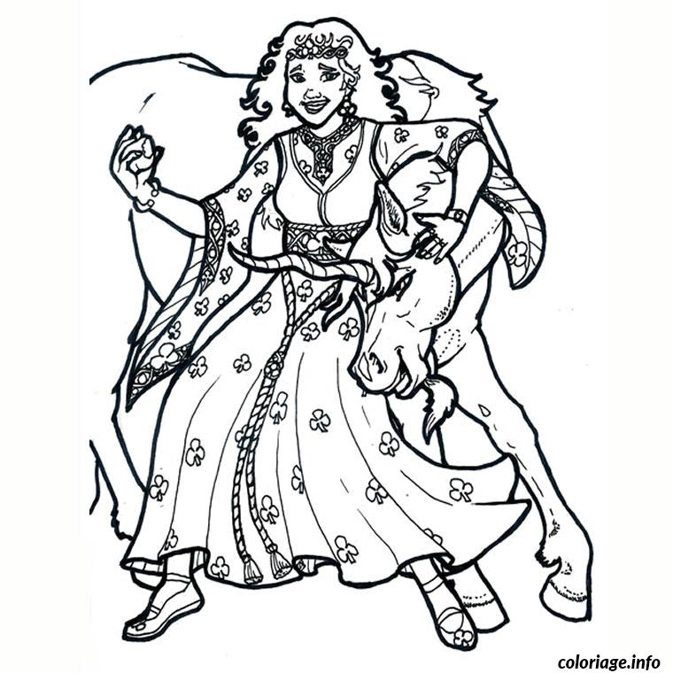 Coloriage licorne et princesse - Licorne dessin ...