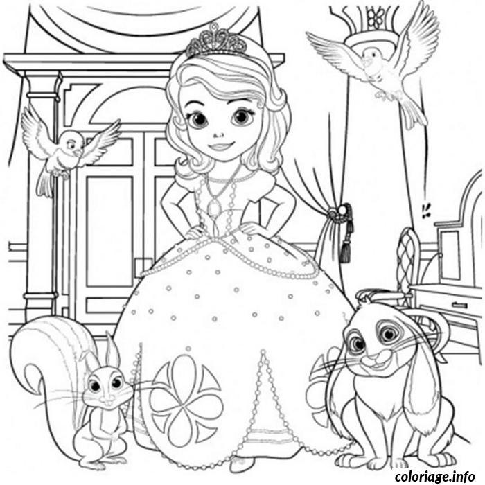 Coloriage De Princesse Sofia A Imprimer.Coloriage Princesse Sofia Jecolorie Com
