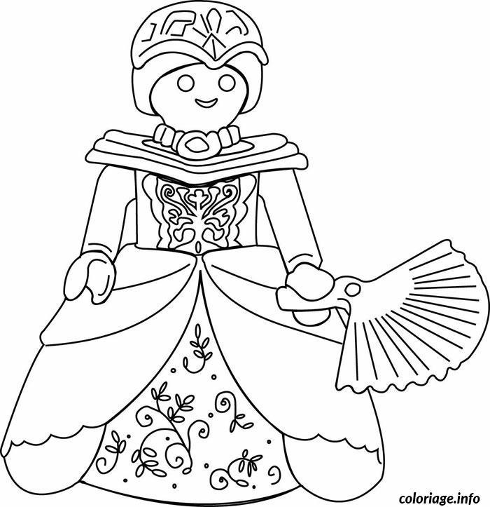 Coloriage playmobil princesse dessin - Princesse dessin facile ...