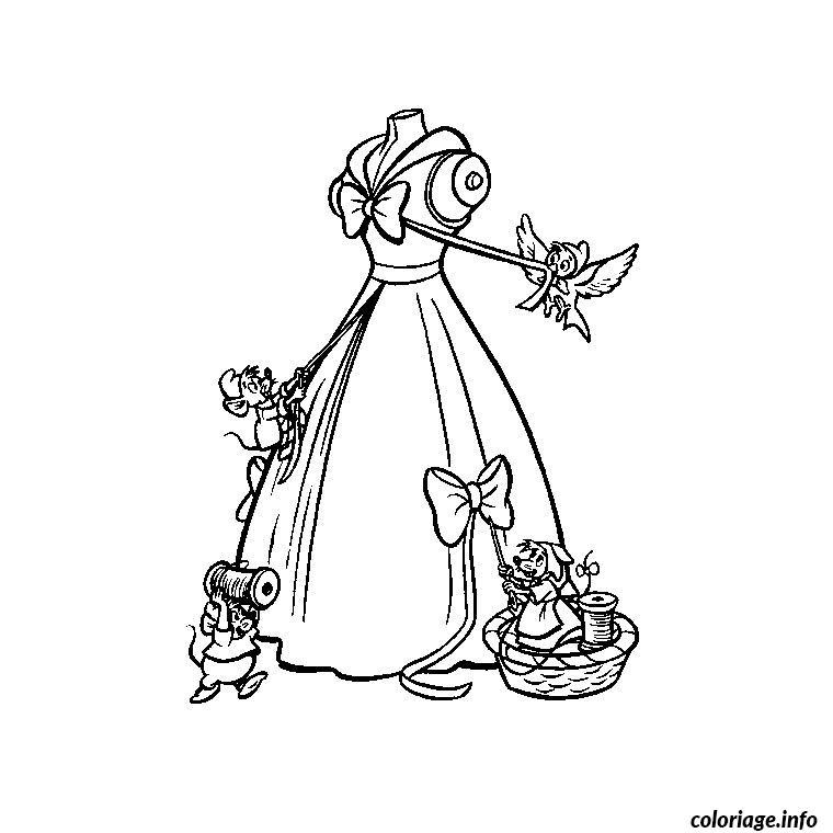 Coloriage tv cendrillon dessin - Image de princesse a colorier ...