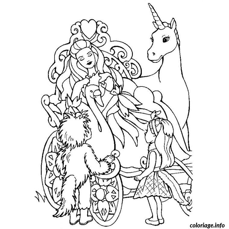 Coloriage barbie les 12 princesses dessin - Barbie princesse coloriage ...