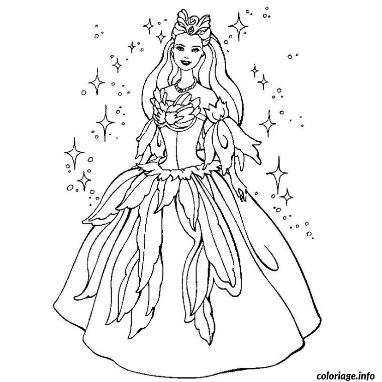 Coloriage barbie princesse - Barbie princesse coloriage ...