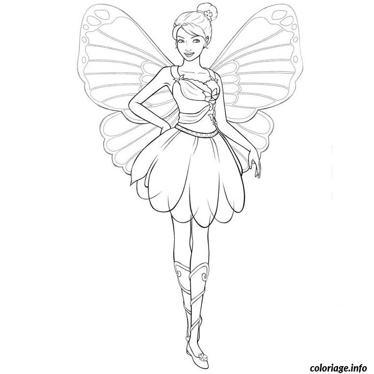 Coloriage barbie mariposa - Coloriage barbie fee ...