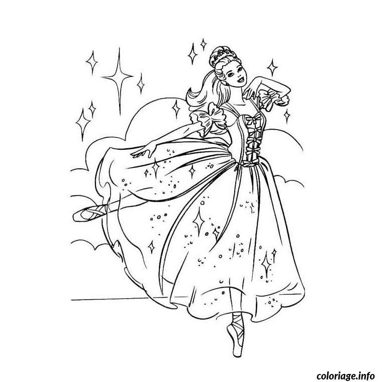 Coloriage barbie danseuse etoile dessin - Coloriage barbie danseuse ...