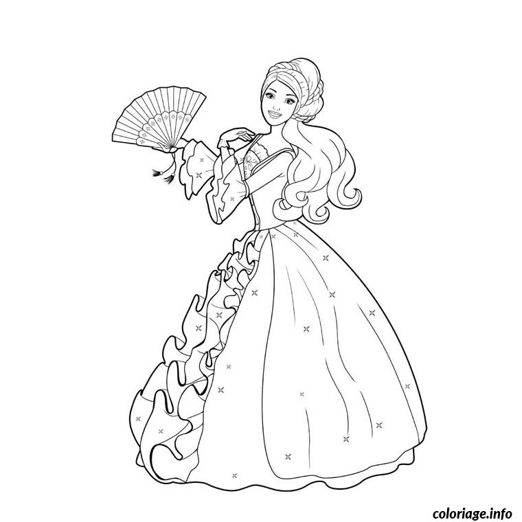 Coloriage barbie au bal des 12 princesses dessin - Photo de barbie a imprimer ...