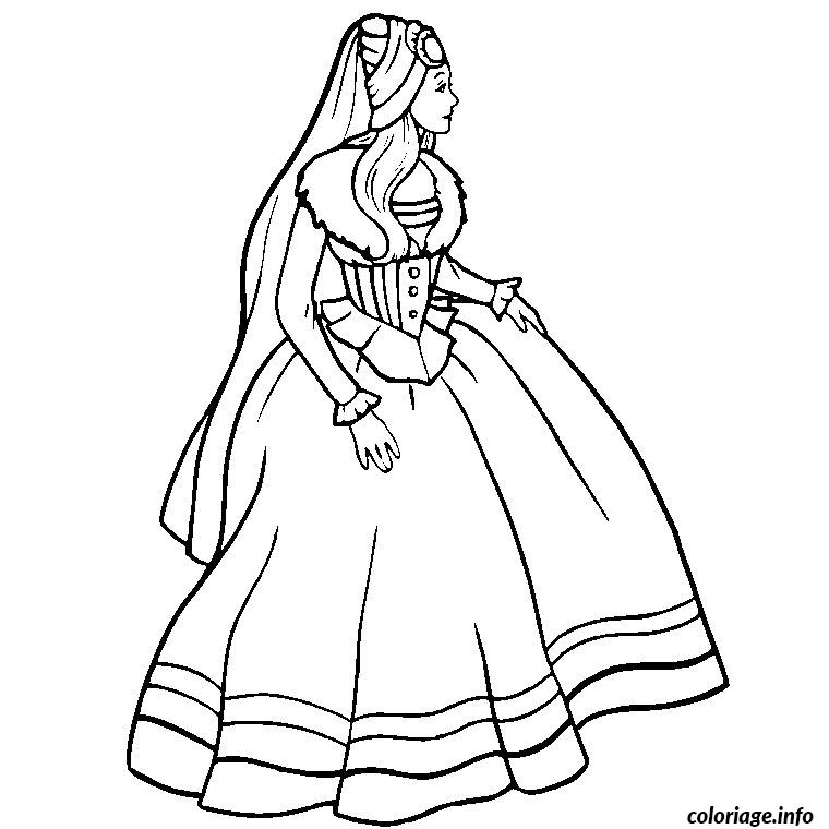 Coloriage barbie coeur princesse dessin - Barbie princesse coloriage ...