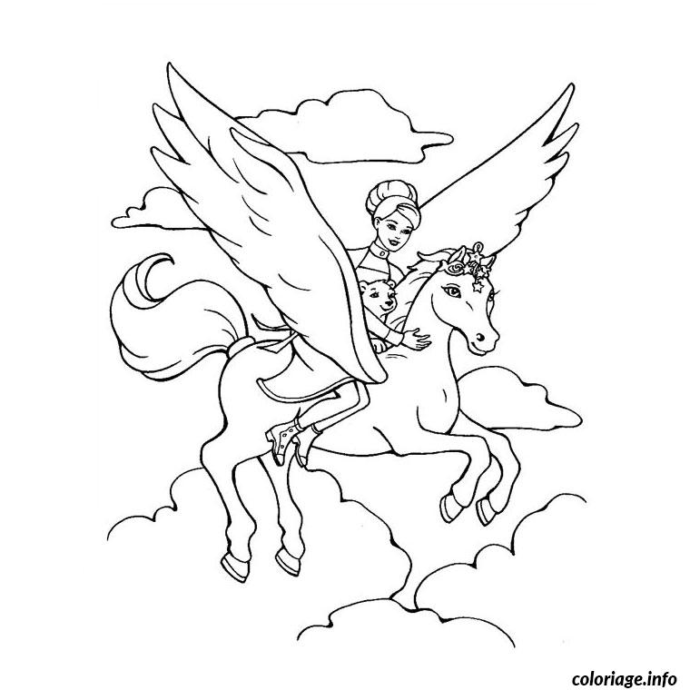 Coloriage barbie et le cheval magique dessin - Barbie et le cheval ...