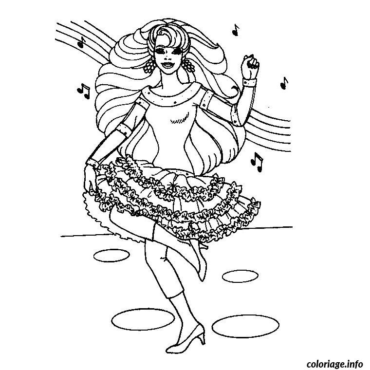 Coloriage barbie danseuse - Danseuse dessin ...