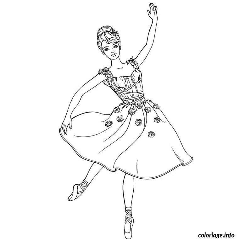 Coloriage Barbie Ballerine Dessin
