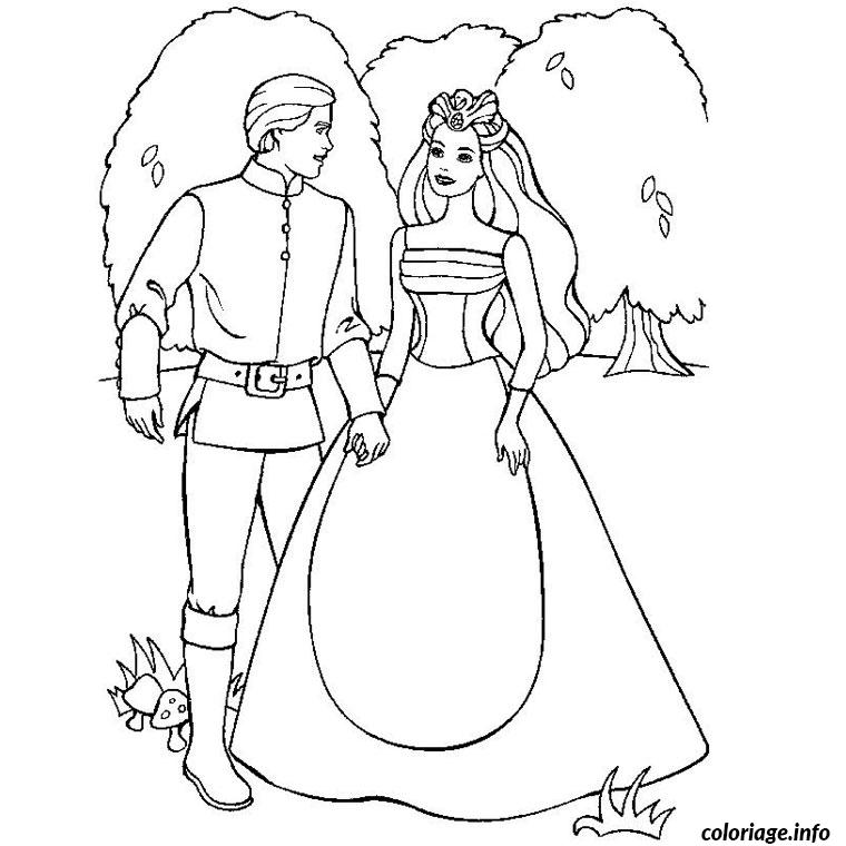 Coloriage barbie et ken - Barbie princesse coloriage ...