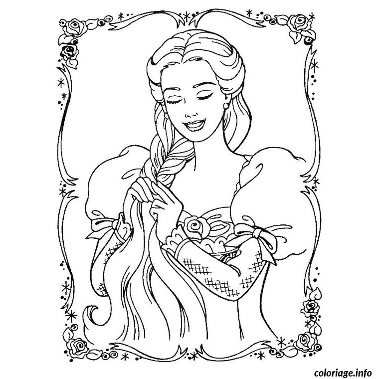 Coloriage Barbie Raiponce Dessin