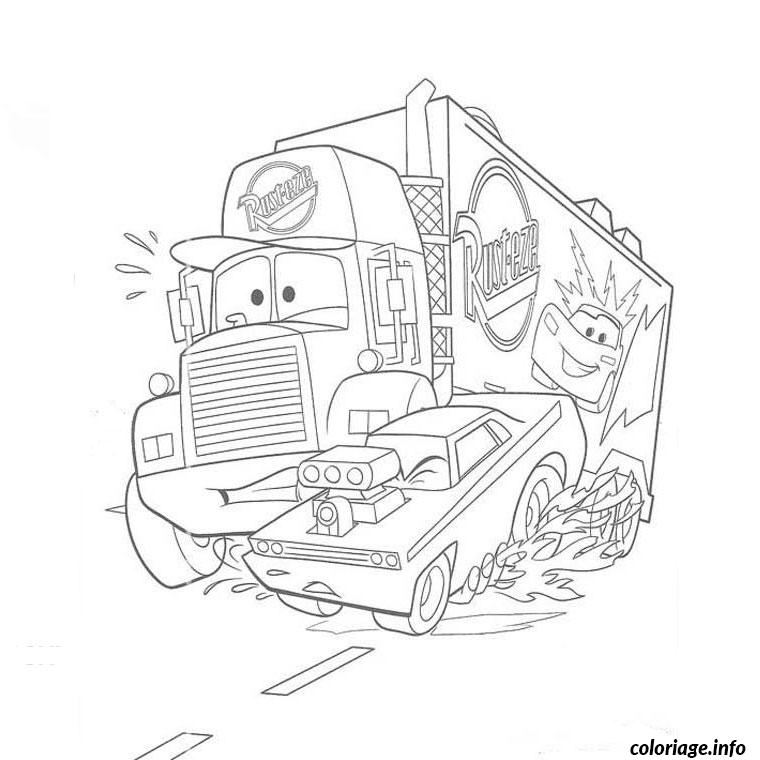 Coloriage cars mack dessin - Coloriage cars image ...