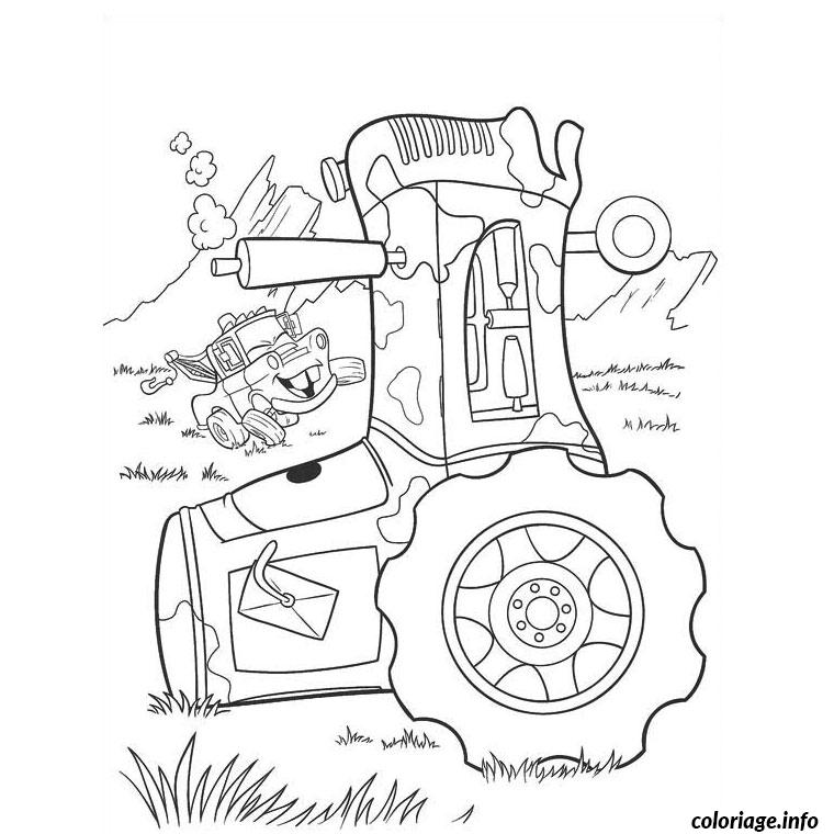 Coloriage tracteur cars dessin - Coloriage la cars ...