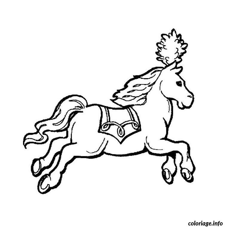Coloriage cheval cirque dessin - Jeux de poney qui saute ...