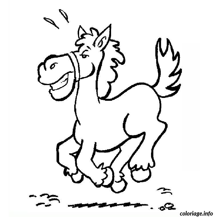 Coloriage cheval galop dessin - Cheval rigolo ...