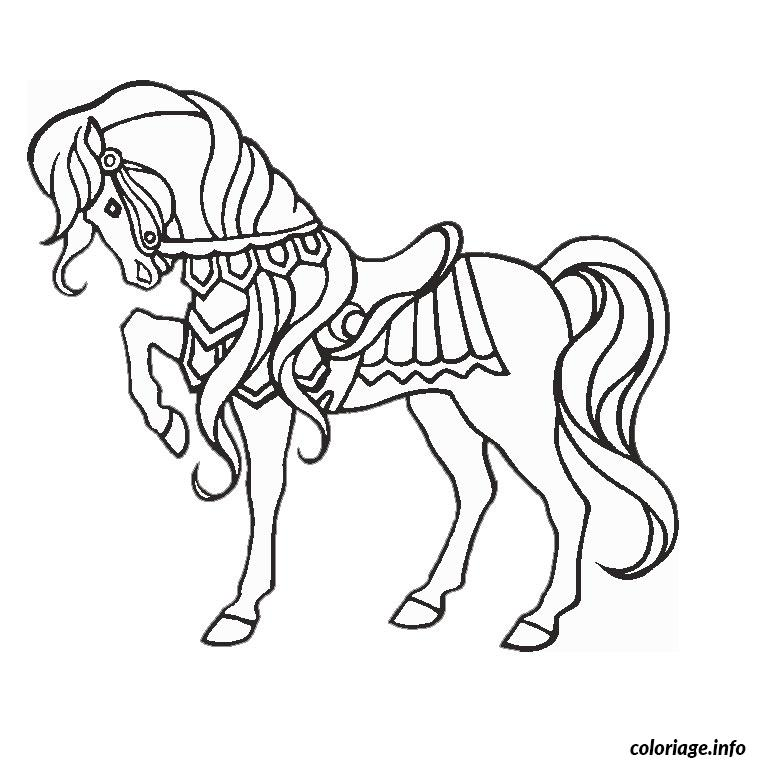Coloriage cheval magique dessin - Coloriage barbie cheval ...