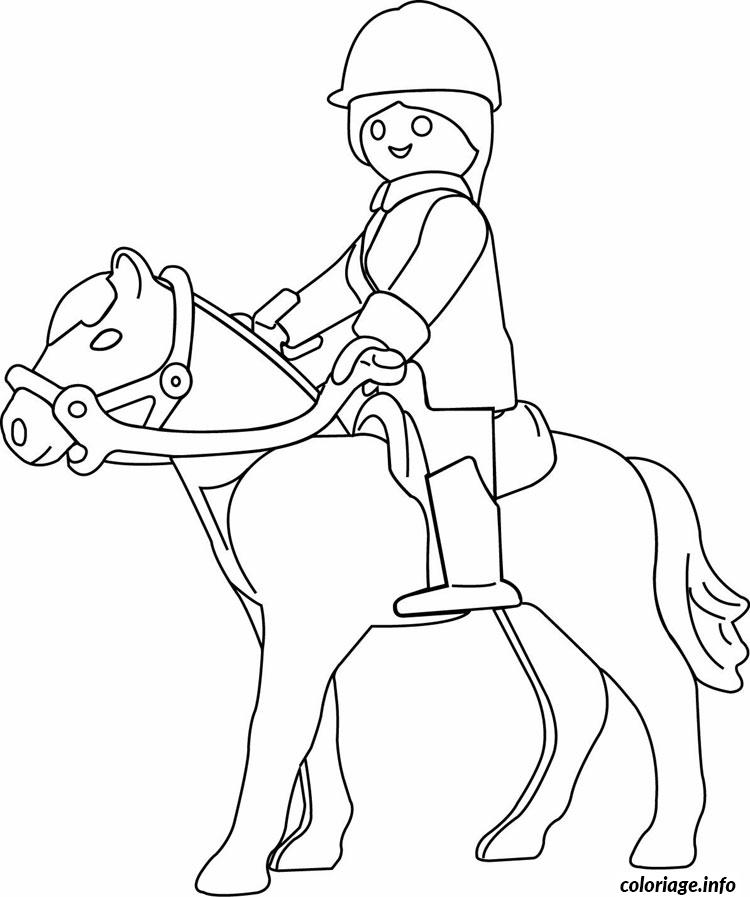 Coloriage playmobil a cheval - Dessins cheval ...