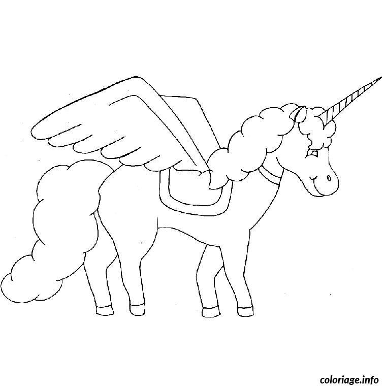 Dessin cheval qui vole Coloriage Gratuit à Imprimer