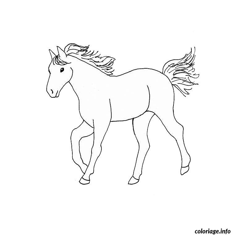 Coloriage cheval dessin - Dessins a colorier gratuit ...