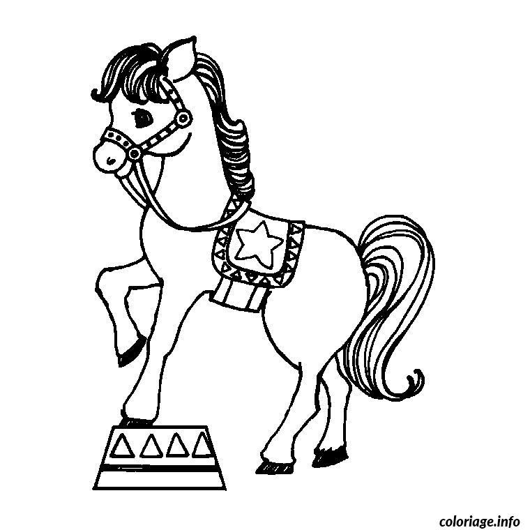 Coloriage chevaux cirque dessin - Dessin de chevale ...