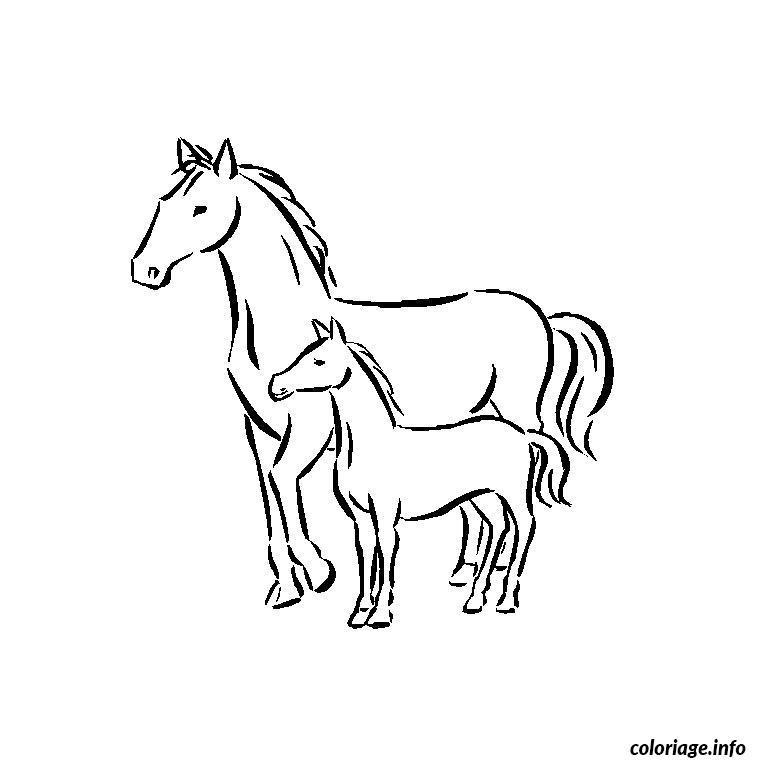 Coloriage chevaux - Chevaux dessins ...