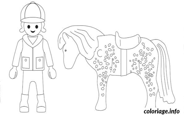 dessin cheval playmobil