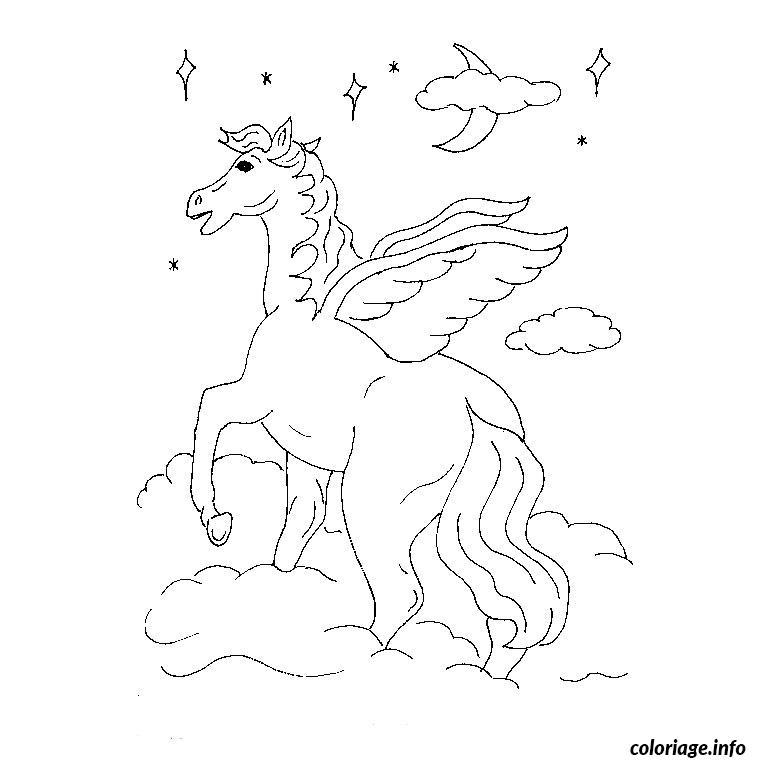 Coloriage cheval volant dessin - Dessin a colorier cheval ...