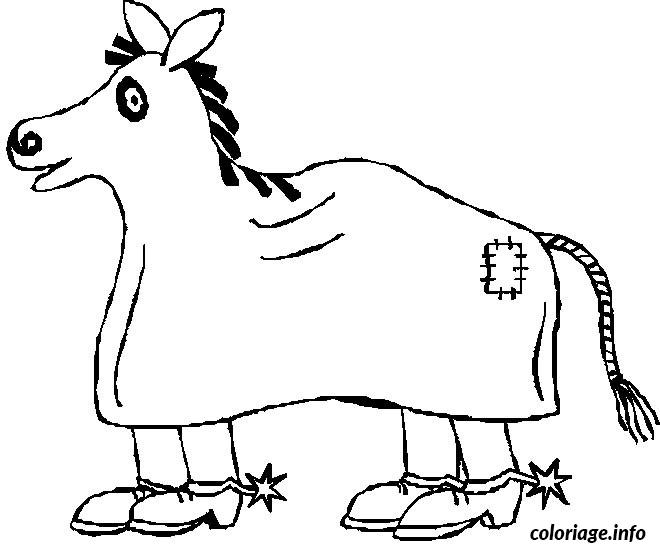 dessin cheval halloween