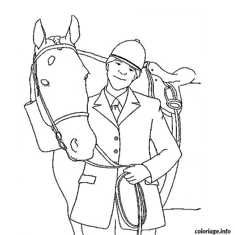 dessin cheval et cavalier