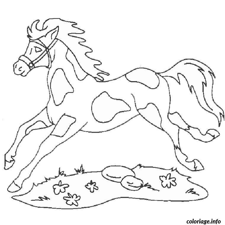 Coloriage Cheval Et Chien dessin
