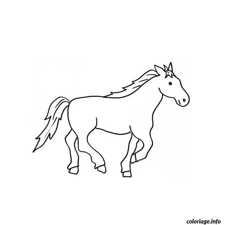 Coloriage cheval arabe dessin - Coloriage facile a dessiner ...