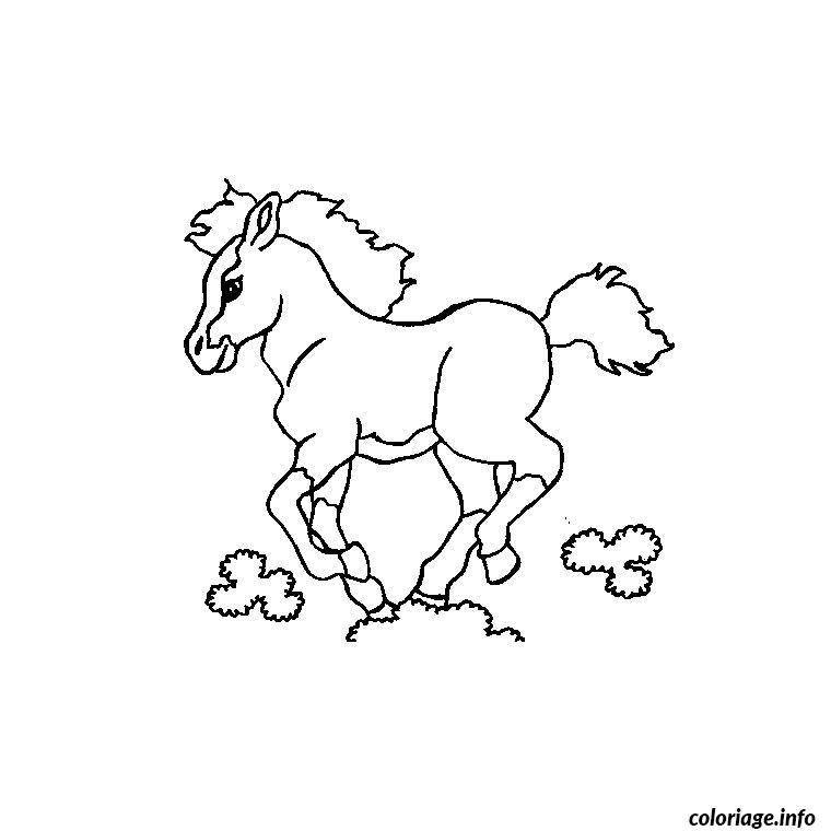 Coloriage cheval poulain dessin - Des images a colorier et a imprimer ...