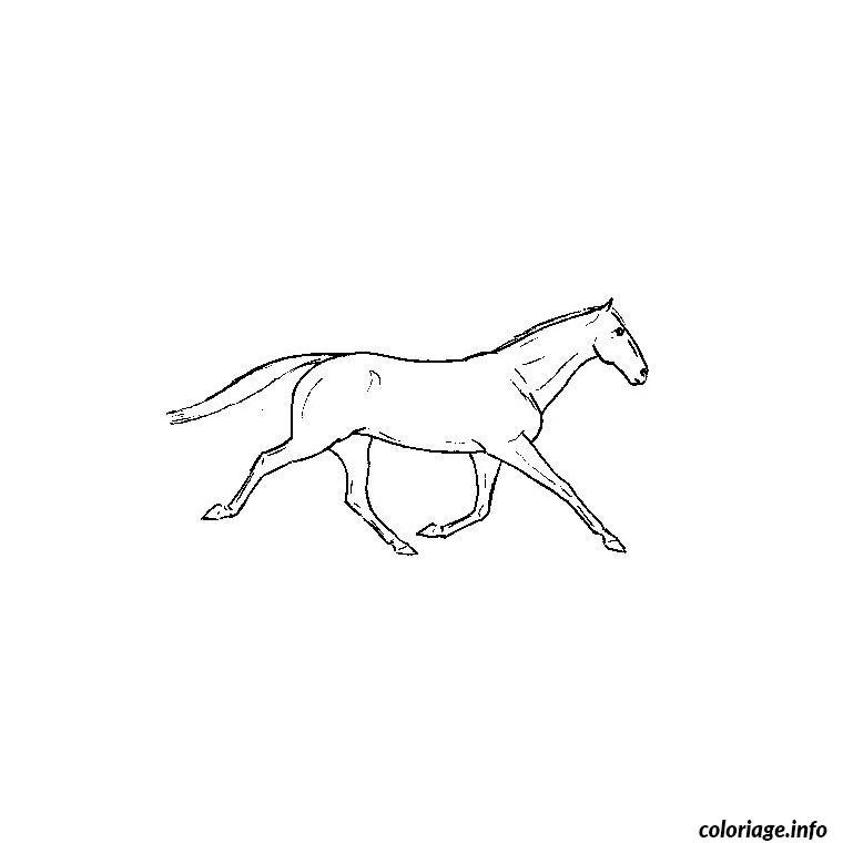 Dessin cheval qui galope Coloriage Gratuit à Imprimer