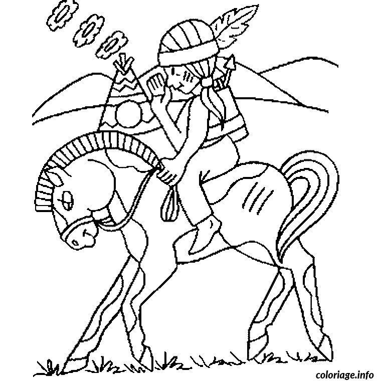 Coloriage cheval indien dessin - Dessin cheval a imprimer ...