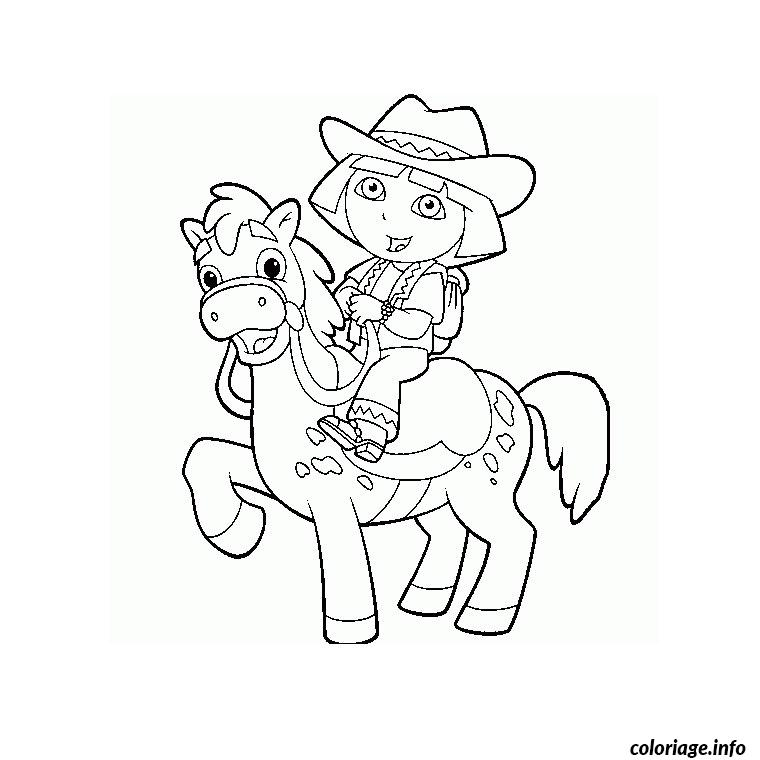 cheval poney coloriage dessin 334