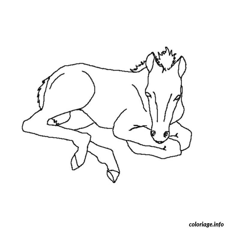 Coloriage cheval dans son box dessin - Chevaux a colorier et a imprimer ...