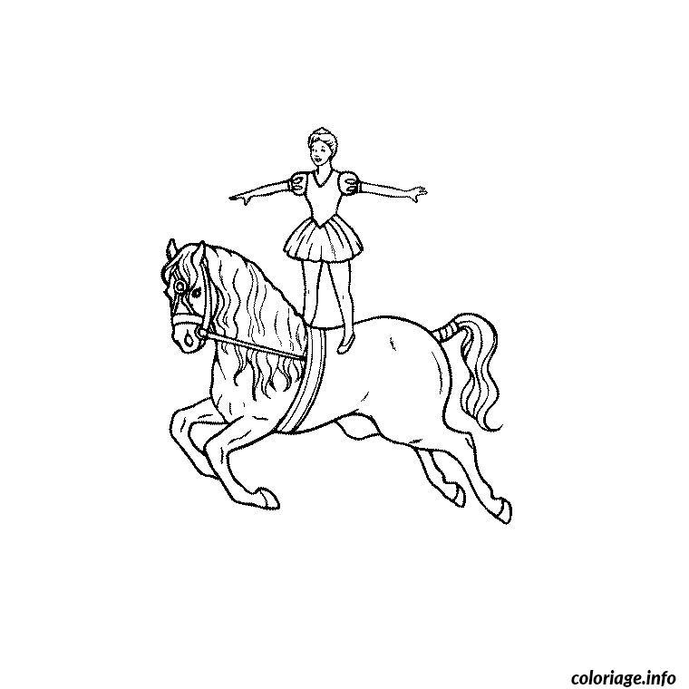 Dessin cheval de cirque Coloriage Gratuit à Imprimer