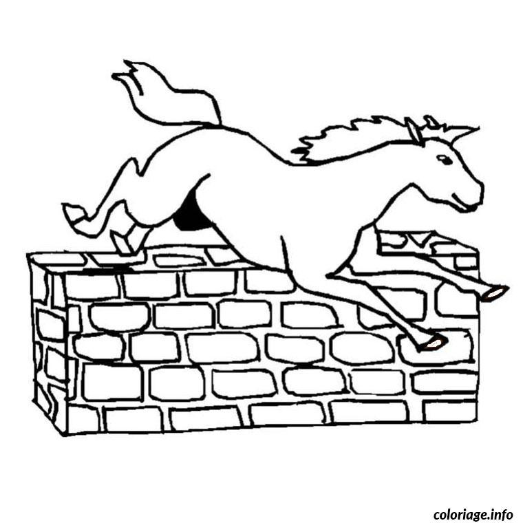 Coloriage cheval qui saute dessin - Dessin a colorier cheval ...